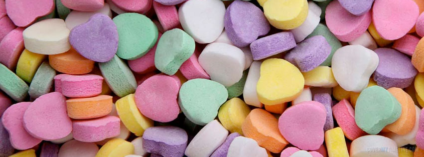Candy Hearts Free Facebook Covers Facebook Timeline Profile