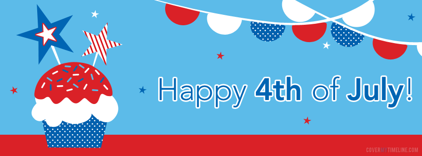 Independence Day - Happy 4th of July Cupcake  Free Facebook Covers, Facebook...