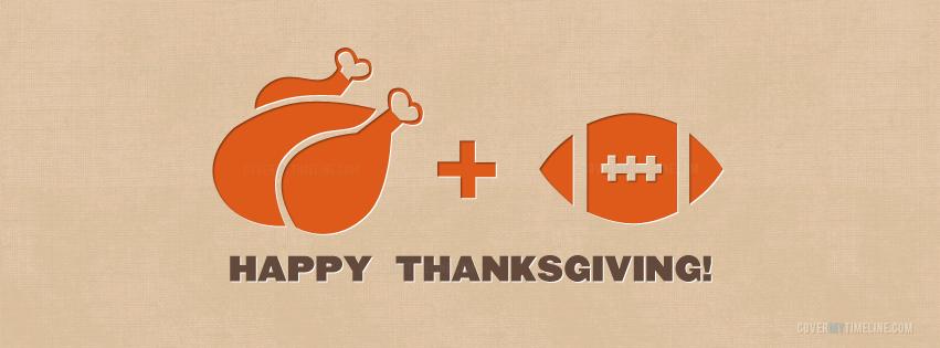 Thanksgiving - Turkey + Football | Free Facebook Covers ... Thanksgiving Cover Photos For Facebook Timeline