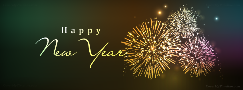 2014 happy new year fireworks facebook timeline cover