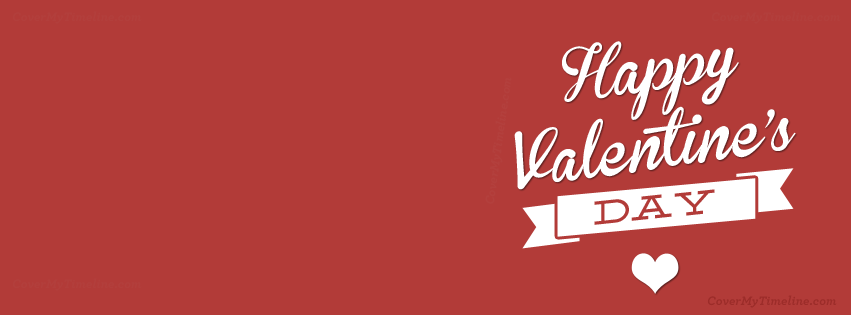 Valentines day happy valentines day heart free facebook happy valentines day ribbon facebook timeline cover thecheapjerseys Choice Image
