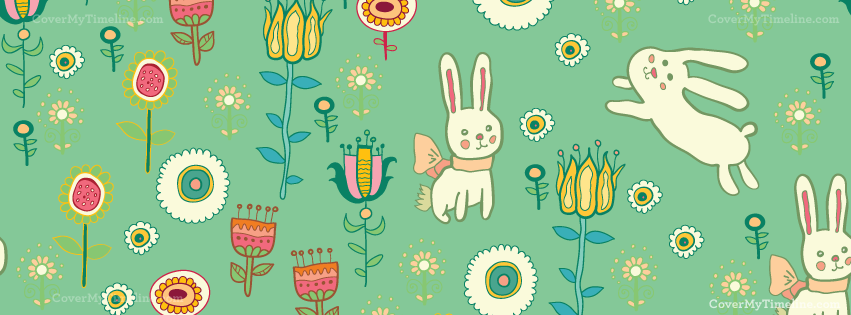 happy easter pattern facebook timeline cover