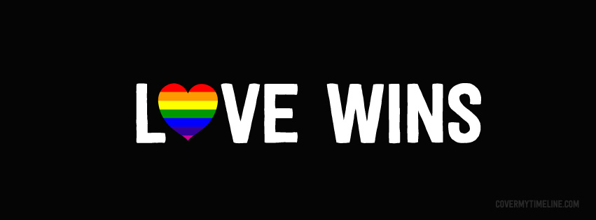 marriage equality love wins rainbow heart lgbt free facebook covers facebook timeline. Black Bedroom Furniture Sets. Home Design Ideas